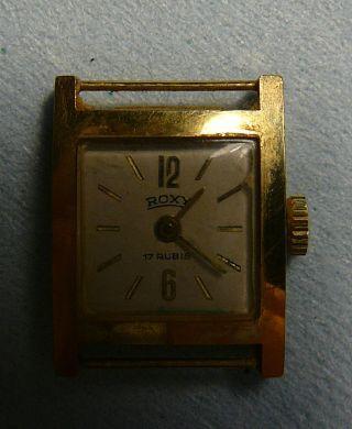 Roxy Armbanduhr 17 Rubis,  Klein Und Alt Bild