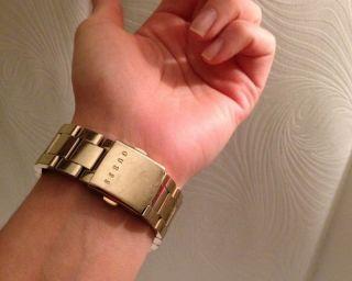 Guess Damenuhr Heavy Metall Gold Bild