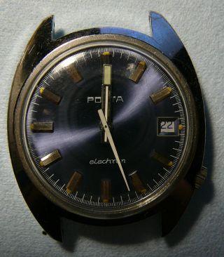 Porta Elechron Armbanduhr,  Puw 1001,  Vintage Bild