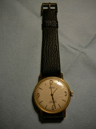 Roxy Armbanduhr Automatic 25 Rubis,  585 Goldauflage,  Vintage Bild