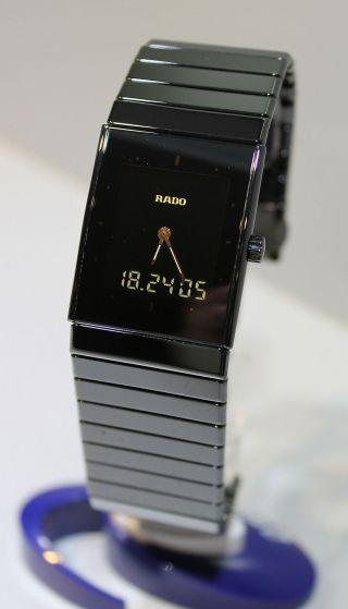 Rado Diastar Ceramica Multifunktionsuhr Schwarz - Ref.  193.  0324.  3 - Armbanduhr Bild