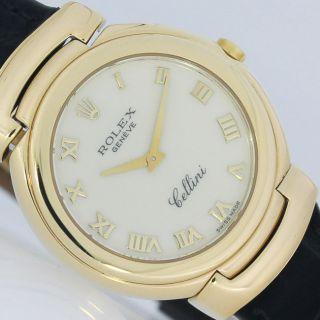 Rolex Cellini Gold Ø 33mm Mit Faltschliesse Uhr Ref.  6622 Bild