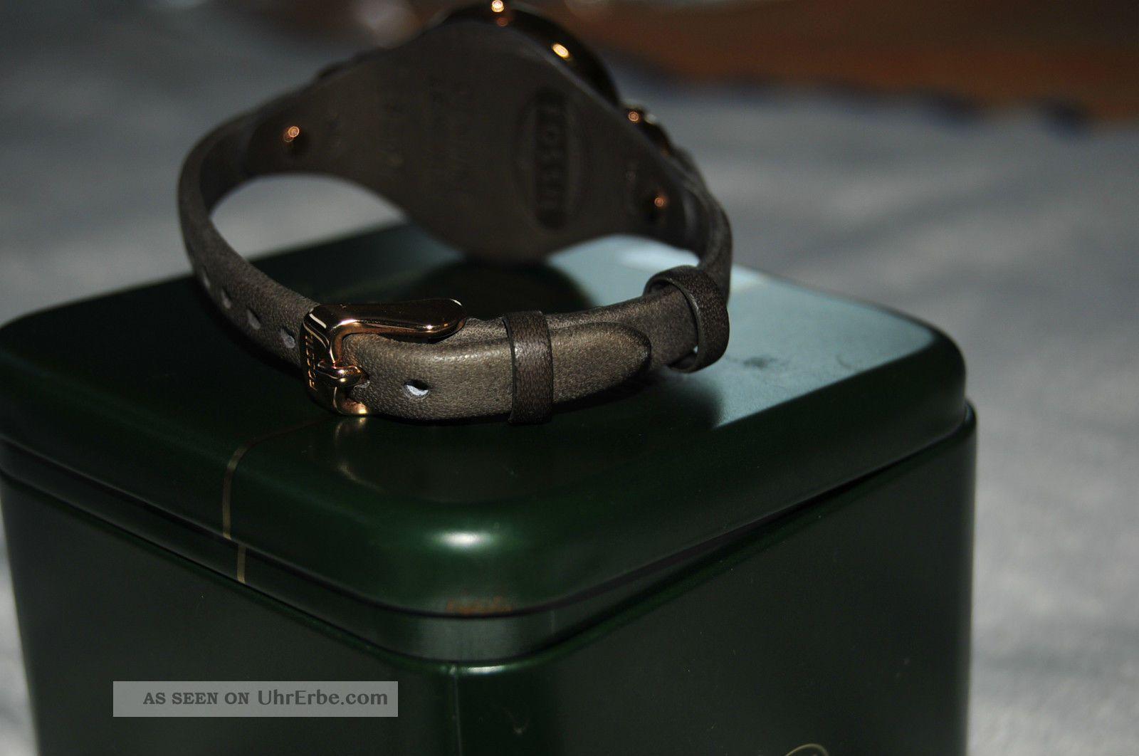 fossil georgia armbanduhr f r damen es3077 mit schmuckdose. Black Bedroom Furniture Sets. Home Design Ideas
