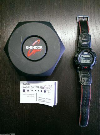 Casio G - Shock 1659 Dw - 9000 Armbanduhr Schwarz In Ovp Retro Von 1998 Bild