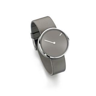 Jacob Jensen Uhr 32252 Serie Curve 252 Stahl Skandinavischer Minimalismus Grau Bild