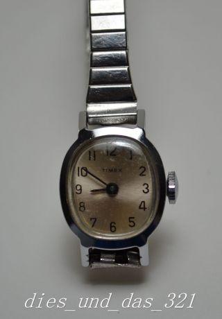 Ältere Timex Damen Mädchen Armbanduhr Handaufzug Bild