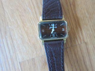Damenarmbanduhr Von Glashütte Braunes Ziffernblatt Uhr Leder Analog Klein Bild