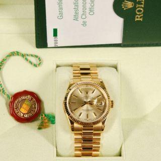 Rolex Uhr Mit Echtheits Zertifikat Und Karton.  Champanger & Gelb Gold Bild