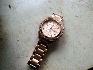 Michael Kors 5263 Damen Chronograph,  Rotverg.  Stahlgehäuse/armband,  Neuwertig Bild