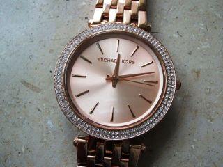 Michael Kors 3192 Damen Uhr,  Rotverg.  Stahlgehäuse/armband,  Neuwertig Bild