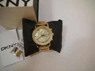 Dkny Damen - Armbanduhr Xs Chronograph Quarz Edelstahl Ny4332 Np 189,  - Mit Garanti Bild