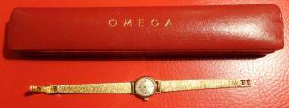 Omega Damenuhr 750 Gold Mit Ovp (20) Bild