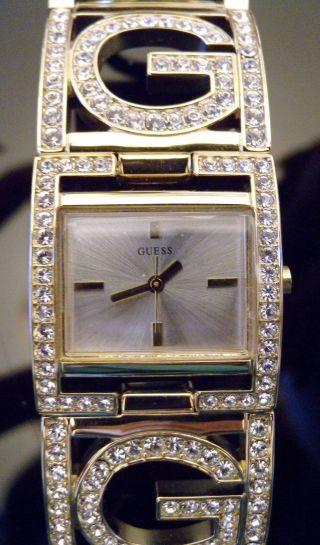 Orig.  Guess Damen Uhr Gold Swarovski Steine W14522l1 Ovp,  Garantiekarte Bild