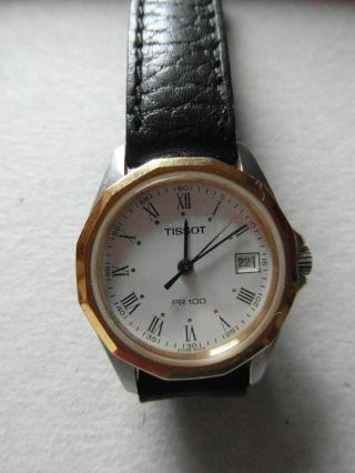 Damen Armbanduhr Tissot Pr - 100 - Quarz,  Analog,  Datumsanzeige,  Klassisch - Elegant Bild