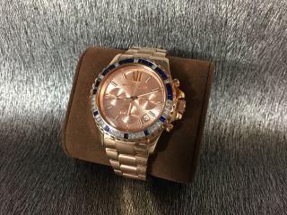 Michael Kors Mk5755 Luxus Chronograph / Edelstahl - Uhr Rosegold Ovp Damen Bild