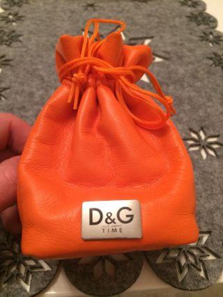 Schmuck Tasche Von D&g Time Dolce Gabbana Orange Tasche Für Geschenke ; -) Bild