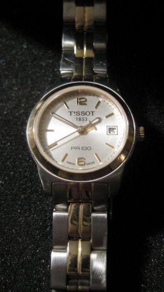 Tissot Armbanduhr Pr 100 Damen Bicolor Bild