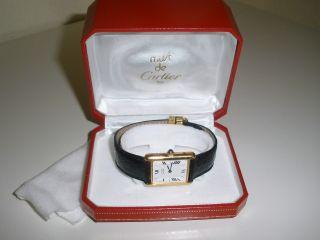 Cartier Must De Cartier Tank - Silber Vergoldet Bild