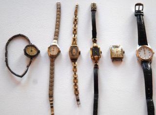 Konvolut 6 Uhren Armbanduhren An Bastler Ca.  40 - 100 Jahre,  Junghans,  Provita Bild