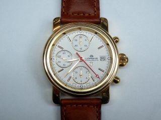Swiss Made Luxus Lorenz Chronograph Uhr Valjoux 7760 Bild