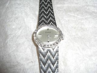 Dugena Damenuhr 585 Silber Mit 24 Brillianten / 14 Karat Bild