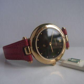 Art Deco♥markenuhr Zentra Uhr♥ Rotes Leder - Armband Armbanduhr Damen Damenuhr Bild
