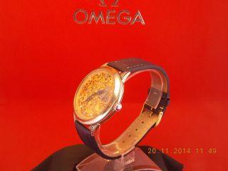 Silberne Omega Skelettuhr Unikat Taschenuhrumbau Mit Brillanten Bild