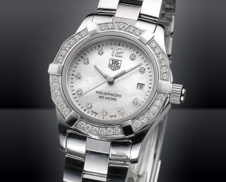 Tag Heuer Aquaracer Damenuhr Waf1416.  Ba0824 Diamant Diamonds Ladies Watch Bild