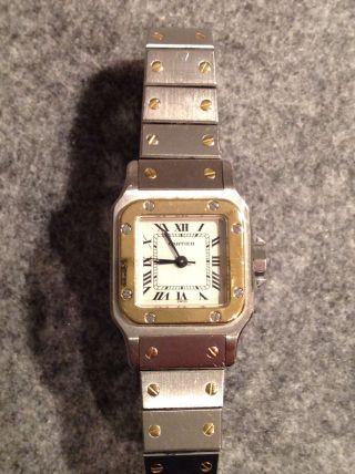 Cartier Santos Uhr,  Tolle Damenuhr,  Hochwertiger Klassiker,  Automatic,  Top Zust. Bild