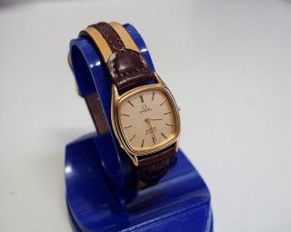 Zieriche Flache (5mm) - Omega - De Ville - Damen - Uhr Mit Neuer Batterie Bild