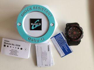 Damen Uhr Casio Baby - G Ba - 111 - 1aer Black Magenta Pink Schwarz Armbanduhr Bild
