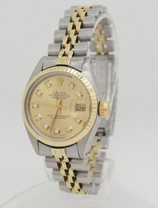 Rolex Datejust Damenuhr Brillanten Stahl/gold Diamant - Zifferblatt 6917 - Bild