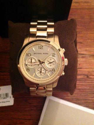 Micheal Kors Gold Mk 5055 Weihnachten Uhr Damen Chronograph Bild
