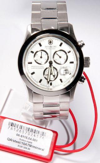 Swiss Military Hanowa Edelstahl Chronograph Chrono Silber 6 - 5115.  04.  001 Bild