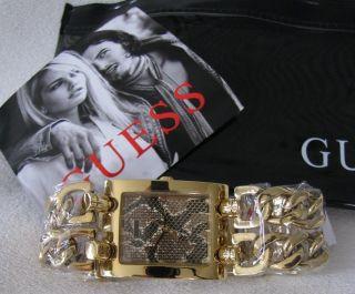 ♥♥♥ Guess Uhr Gold Snake Schlange Metallic Python Graphic Heavy Metal ♥♥♥ Bild