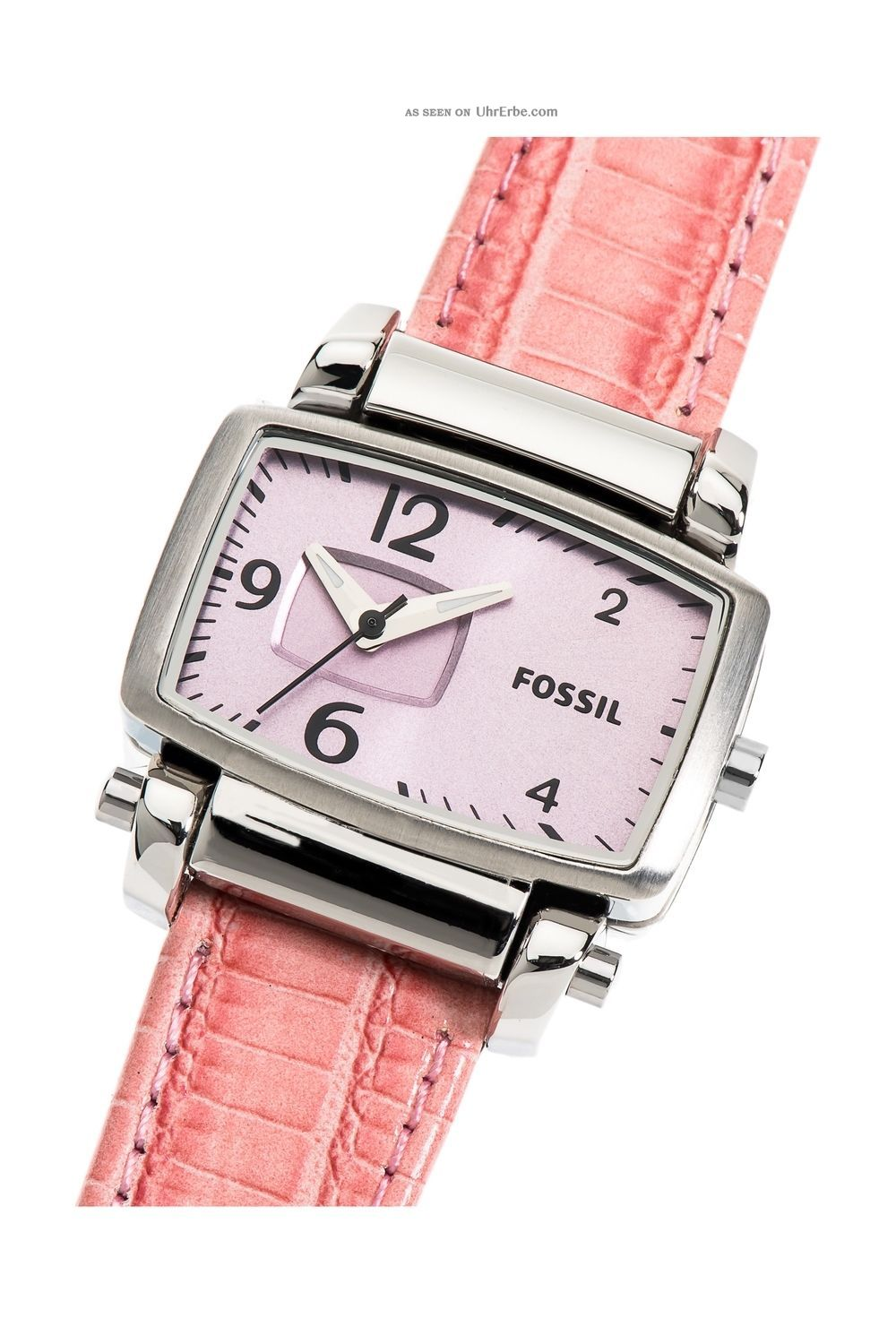 fossil watch bar damenuhr edelstahl lederarmband rosa. Black Bedroom Furniture Sets. Home Design Ideas