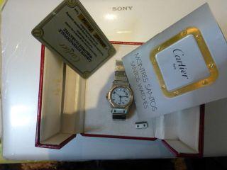 100 Cartier Santos Stahl Automatik Herren Und Damen Armbanduhr Bild