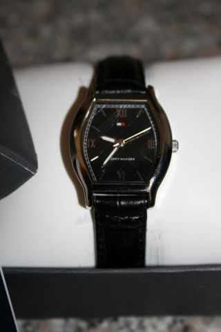 Tommy Hilfiger Armbanduhr Ovp Damen Schwarzes Lederarmband Edel Bild