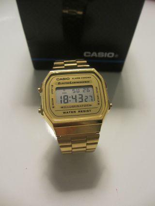 Casio Uhr,  Farbe Gold Bild