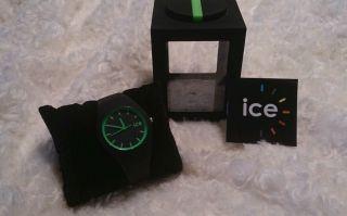 Ice Watch Slim Ice Schwarz Grün Hands Unisex Ice.  Bk.  U.  S.  13 Schwarz Bild