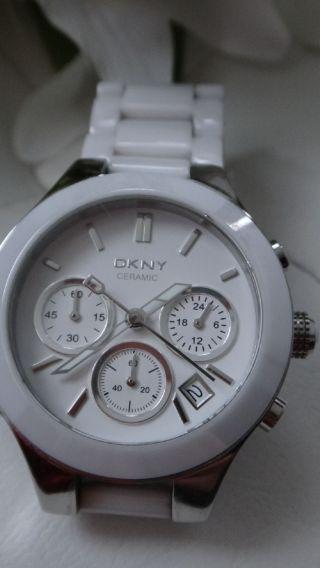 Dkny Armbanduhr Für Damen Ceramic Weiß Keramik Bild