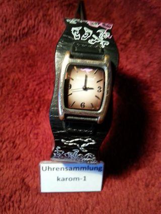 Kangaroos Damenuhr 3 Atm St.  Steel Back,  Echtleder Armband Uhrensammlung Top Bild