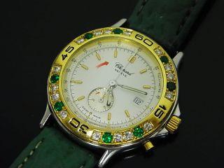 Chopard Damen Uhr In 750 Gold / Edelstahl Brillianten Smaragden Mille Miglia Bild