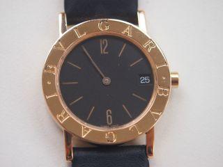 Orig.  Bulgari - Uhr - Bb 30 Gld - 750er Gold - Quartz - Funktioniert Tadellos Bild