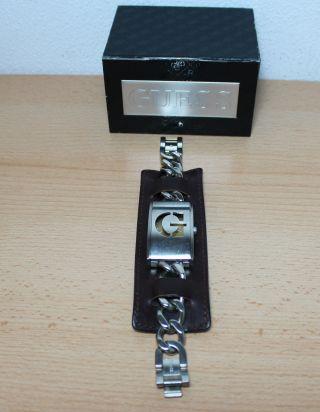 Guess Damen Armbanduhr Breites Lederband,  Kettenglieder Wandelbar Bild