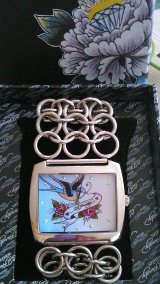 Ed Hardy Uhr Armbanduhr Edelstahl - Sehr Schick Und Neuwertig Bild