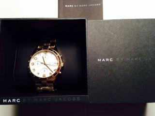 Orig.  Marc Jacobs Uhr,  Chronograph,  Quartz Edelstahl,  Gold,  Retro,  Mbm3038 Bild