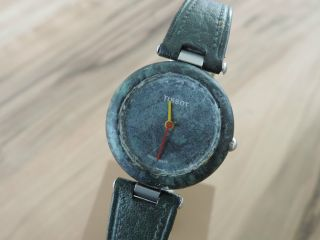 Tissot Rockwatch R150 Grüner Stein Ansehen - Selten Neue Batterie Und Läuft Bild