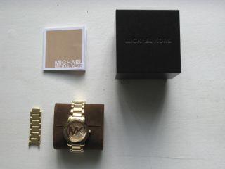 Michael Kors,  Top Damenuhr,  Gold,  Gebrauchsspuren; Top Geschenkidee Bild