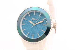 S.  Oliver Uhr Unisex Damenuhr Weiß/blau So - 2674 - Pq Bild